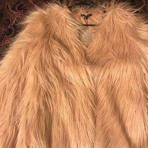 Urban outfitters mauve fur coat